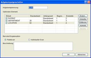 Screenshot Barcode-Einstellungen