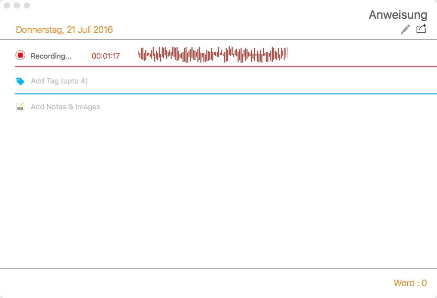 Review Speechrecorder Screen 4