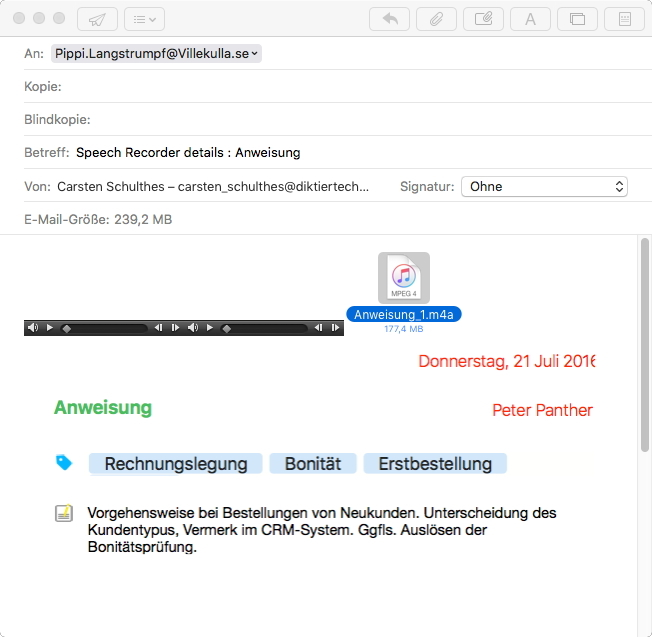 Review Speechrecorder Screen 7