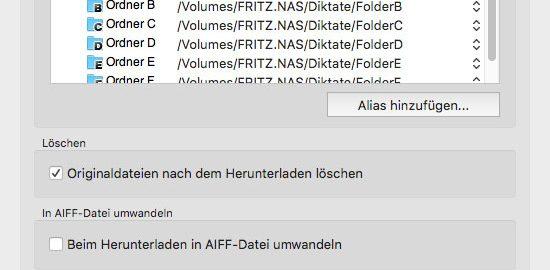 Fritz!Box als Online-Diktatspeicher