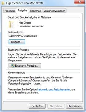Zielverzeichnis Windows/Mac